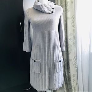 Style& Co Dress sweater size S silver gray
